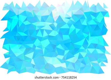 Light BLUE vector blurry triangle background. A sample with polygonal shapes. A completely new template for your business design.
