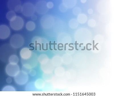 Light BLUE Vector Bokeh Template Elegant Stock Vector (Royalty Free