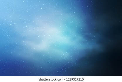 Light BLUE vector cover with astronomical stars. Glitter abstract illustration with colorful cosmic stars. Pattern for astrology websites.