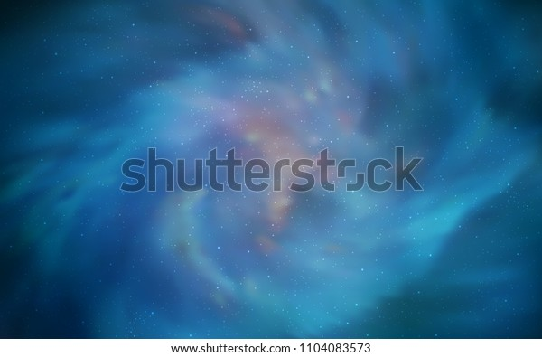 Light BLUE vector cover with astronomical stars. Modern abstract illustration with Big Dipper stars. Pattern for astronomy websites.