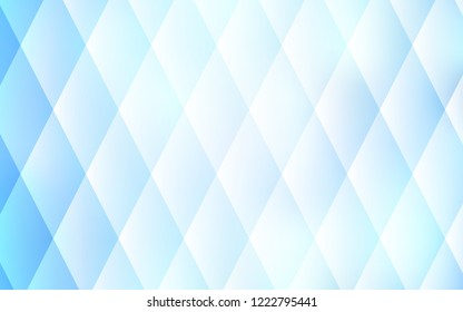 Light BLUE vector cover in polygonal style. Glitter abstract illustration with rectangular shapes. Pattern for busines ad, booklets, leaflets