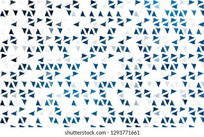 Light BLUE vector cover in polygonal style. Glitter abstract illustration with triangular shapes. Pattern for commercials.
