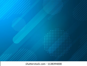 Light BLUE vector cover with rounded stripes, dots. Capsules on blurred abstract background with gradient dots. Best design for your ad, poster, banner.