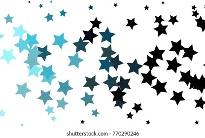 light blue vector template sky stars stock vector royalty free