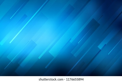 Light BLUE vector cover with stright stripes. Blurred decorative design in simple style with lines. Template for your beautiful backgrounds.