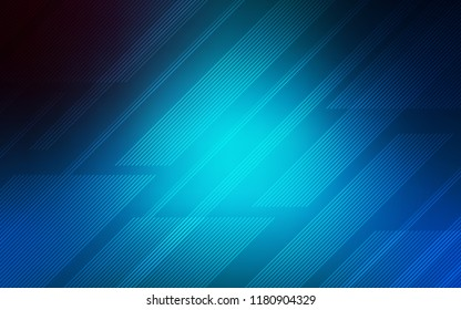 Light BLUE vector cover with stright stripes. Lines on blurred abstract background with gradient. The pattern for ad, booklets, leaflets.