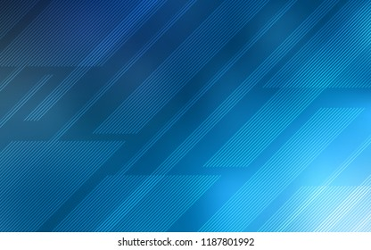 Light BLUE vector cover with stright stripes. Modern geometrical abstract illustration with Lines. Pattern for ads, posters, banners.