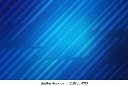 Light BLUE vector cover with stright stripes. Glitter abstract illustration with colored sticks. The pattern for ad, booklets, leaflets.