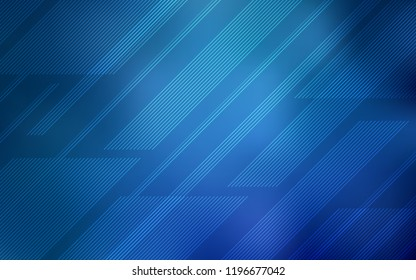 Light BLUE vector cover with stright stripes. Glitter abstract illustration with colored sticks. Smart design for your business advert.