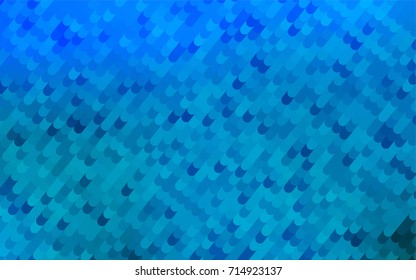 Light BLUE vector crooked abstract pattern. Glitter abstract illustration with wry lines. The polygonal design can be used for your web site.