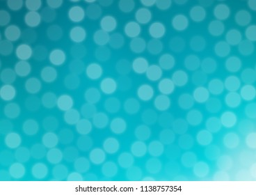 Light BLUE vector glossy bokeh pattern. Colorful abstract illustration with gradient. The elegant pattern for brand book.