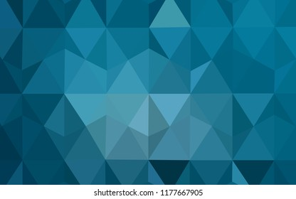 Light BLUE vector gradient triangles pattern. Polygonal abstract illustration with gradient. A completely new design for your leaflet.