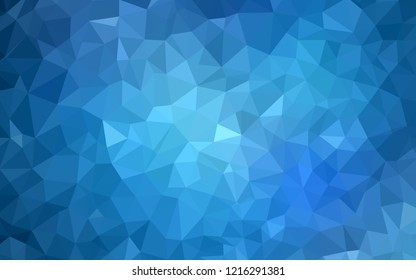 Light BLUE vector gradient triangles template. Polygonal abstract illustration with gradient. A completely new design for your leaflet.