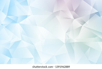 Light BLUE vector gradient triangles pattern. A completely new color illustration in a polygonal style. A completely new design for your leaflet.
