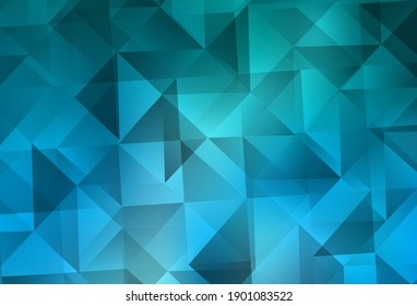Light BLUE vector gradient triangles pattern. Colorful illustration in abstract style with triangles. Template for cell phone's backgrounds.