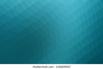 Light BLUE vector hexagon mosaic texture. Colorful abstract illustration with gradient. The textured pattern can be used for background.