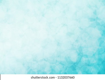 Light BLUE vector hexagon mosaic pattern. A vague abstract illustration with gradient. The polygonal design can be used for your web site.