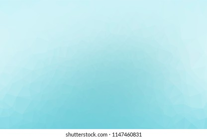 Light BLUE vector hexagon mosaic texture. Colorful illustration in abstract style with gradient. A completely new template for your business design.