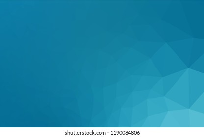 Light BLUE vector hexagon mosaic cover. Brand new colored illustration in blurry style with gradient. Triangular pattern for your business design.
