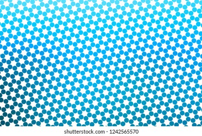 Light BLUE vector layout with circle shapes. Illustration with set of shining colorful abstract circles. Pattern for beautiful websites.
