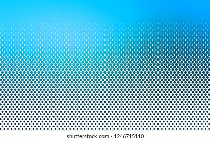 Light BLUE vector layout with circle shapes. Blurred decorative design in abstract style with bubbles. Pattern for ads, leaflets.