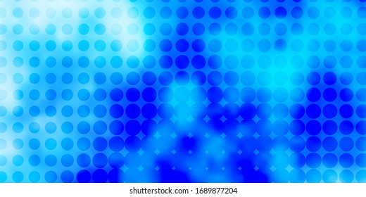 Light BLUE vector layout with circle shapes. Glitter abstract illustration with colorful drops. Pattern for wallpapers, curtains.