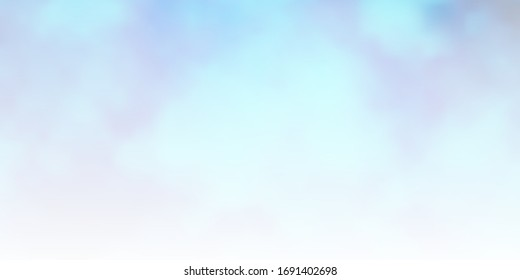 Light BLUE vector layout with cloudscape. Gradient illustration with colorful sky, clouds. Colorful pattern for appdesign.