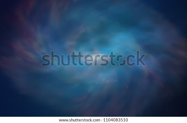 Light BLUE vector layout with cosmic stars. Blurred decorative design in simple style with galaxy stars. Pattern for astrology websites.