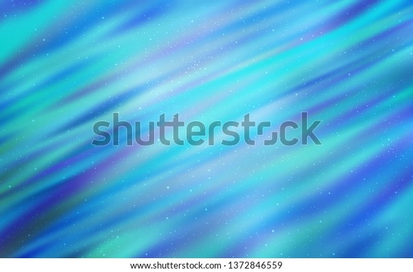 Light BLUE vector layout with cosmic stars. Space stars on blurred abstract background with gradient. Pattern for futuristic ad, booklets.