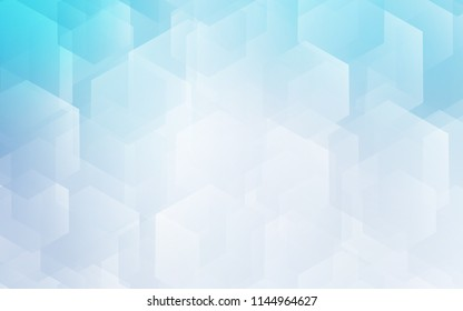 Light BLUE vector layout with hexagonal shapes. Illustration with set of colorful hexagons. Pattern can for your ad, booklets.
