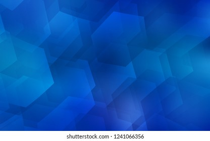 Light BLUE vector layout with hexagonal shapes. Illustration with set of colorful hexagons. Pattern can be used for landing pages.