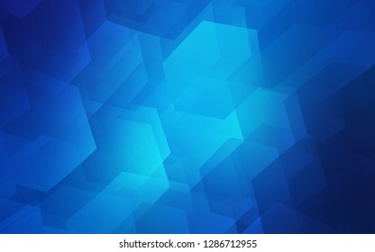 Light BLUE vector layout with hexagonal shapes. Colorful hexagons on white backdrop. Pattern for ads, leaflets.
