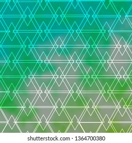 Light BLUE vector layout with lines, triangles. Gradient triangles in abstract style on simple form. Design for your promotions.