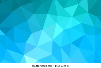 Light BLUE vector low poly cover. A sample with polygonal shapes. Brand new design for your business.