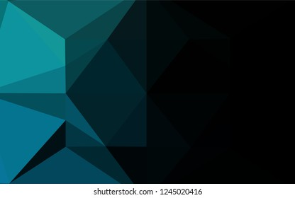 Light BLUE vector low poly layout. Brand new colored illustration in blurry style with gradient. The best triangular design for your business.