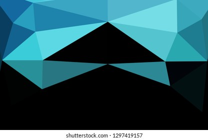 Light BLUE vector low poly cover. Glitter abstract illustration with an elegant design. New texture for your design.