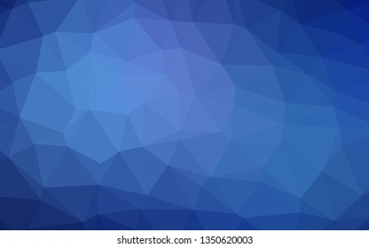 Light BLUE vector low poly layout. Creative illustration in halftone style with gradient. Brand new style for your business design.