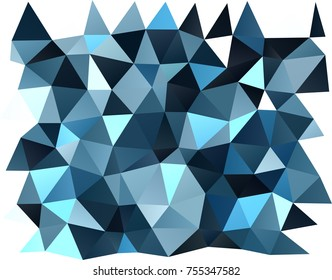 Light BLUE vector low poly pattern. A completely new color illustration in a vague style. Brand-new design for your business.