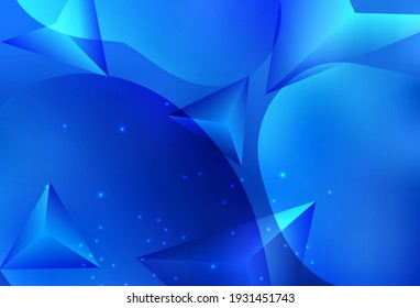 Light BLUE vector Modern abstract colorful illustration with spheres and lines. Beautiful colored illustration with blurred circles in nature style. Smart design for business ads.