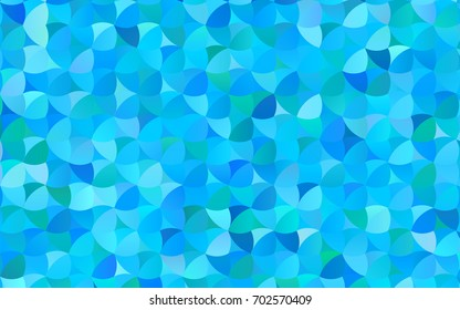 Light BLUE vector modern geometrical circle abstract background. Dotted texture template. Geometric pattern in halftone style with gradient.