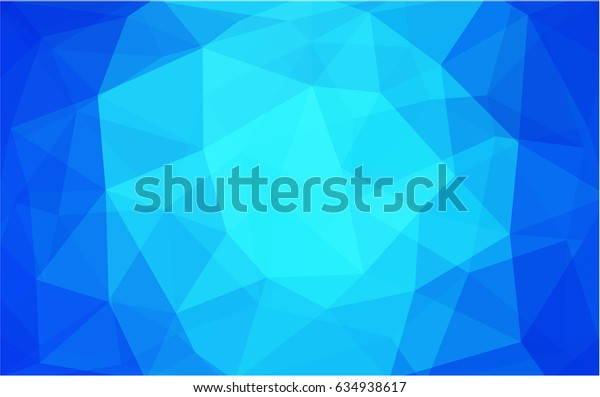 Light BLUE vector modern geometrical abstract background. Texture, new background. Geometric background in Origami style with gradient.