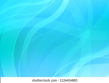 Light BLUE vector pattern with bent swirl shapes. Blurred geometric sample with gradient bubbles.  New composition for your brand book.