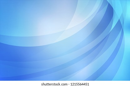 Light BLUE vector pattern with bent lines. An elegant bright illustration with gradient. Marble design for your web site.