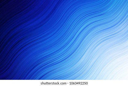 Light BLUE vector pattern with lines, ovals. Colorful illustration in abstract marble style with gradient. A new texture for your  ad, booklets, leaflets.