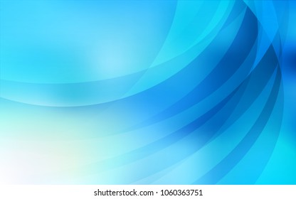 Light BLUE vector pattern with liquid shapes. A vague circumflex abstract illustration with gradient. Pattern for your business design.