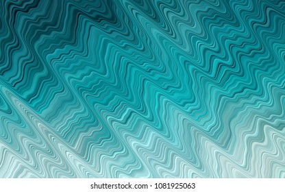 Light BLUE vector pattern with liquid shapes. Modern gradient abstract illustration with bandy lines. Brand-new design for your ads, poster, banner.