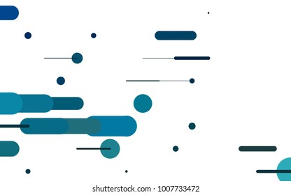 Light BLUE vector pattern with rounded lines. Blurred decorative design in simple style with lines. The pattern can be used as ads, poster, banner for medicine.