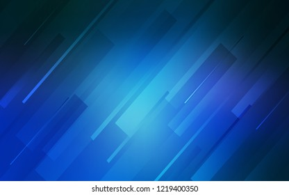 Light BLUE vector pattern with sharp lines. Decorative shining illustration with lines on abstract template. Best design for your ad, poster, banner.