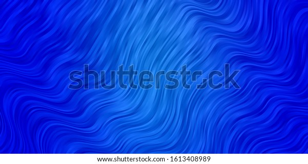 Light BLUE vector pattern with wry lines. Colorful illustration, which consists of curves. Pattern for ads, commercials.