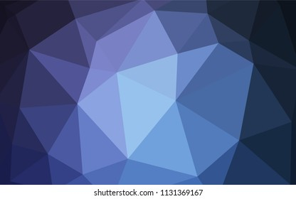 Light BLUE vector polygon abstract backdrop. Geometric illustration in Origami style with gradient.  Polygonal design for your web site.
